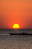Sunset above the sea in Bangpu in Thailand Stock Photo