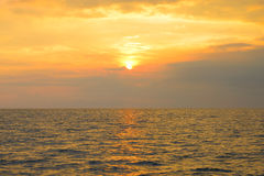 Sunset above the sea Royalty Free Stock Image