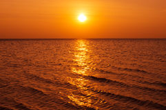 Sunset above the sea Royalty Free Stock Photo