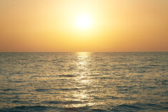 Sunset above the sea Royalty Free Stock Images