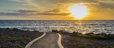 Sunset above the sea Stock Photography