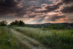 Sunset above Silesia Royalty Free Stock Images