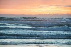 Sunset above Tasman Sea, New Zealand Royalty Free Stock Images