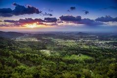 Sunset above town of Jogjakarta , Jawa, Indonesia Stock Photography