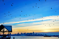 Sunset above Vancouver, Canada Stock Photography