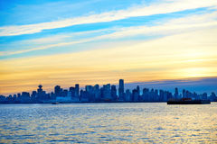 Sunset above Vancouver, Canada Royalty Free Stock Image