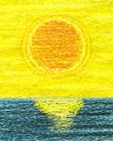 Sunset Abstract Painting Royalty Free Stock Photography
