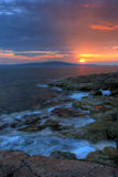 Sunset in Acadia National Park Stock Image