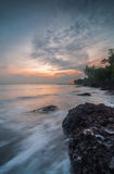 Sunset at Aceh beach. Aceh beach near port klang stock photography