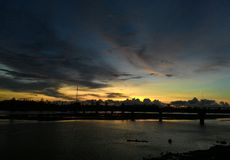 Sunset in Aceh Stock Photos