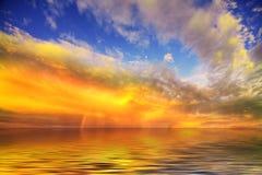 Sunset across a field Stock Photo