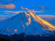 Sunset across the Mount Fuji Royalty Free Stock Image