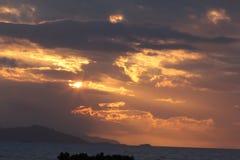 Sunset Across the Paddock Stock Photo