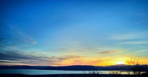 Sunset Across Valley and Utah Lake royalty free stock images