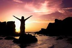 Sunset activities Royalty Free Stock Photo