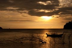 Sunset at Adang, Thailand Royalty Free Stock Photos