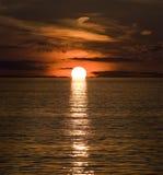 Sunset on Adriatic Royalty Free Stock Photo