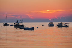 Sunset at the Adriatic coast Royalty Free Stock Images