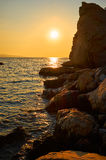 Sunset on the Adriatic. Croatia. Stock Images