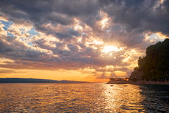 Sunset on the Adriatic. Croatia. Royalty Free Stock Photo