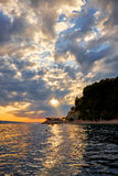 Sunset on the Adriatic. Croatia. Royalty Free Stock Photography