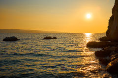 Sunset on the Adriatic. Croatia. Stock Photography