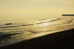 Sunset and Adriatic Sea, Jesolo royalty free stock photography