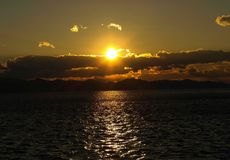 Sunset. At Adriatic Sea (Peljesac peninsula)rntaken with DSLR camera Stock Photography