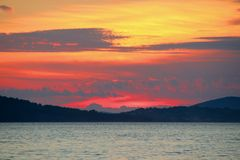 Sunset on the Adriatic Sea. Summer Landscape / Sunset on the Adriatic Sea Stock Photography