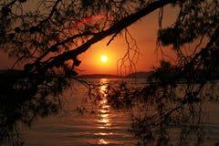Sunset on the Adriatic Sea. Summer Landscape / Sunset on the Adriatic Sea Royalty Free Stock Image