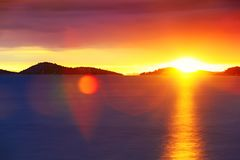 Sunset on Adriatic sea Royalty Free Stock Photos