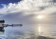 Sunset on the Aegean coast Royalty Free Stock Photo