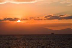 Sunset In The Aegean Sea Stock Photo