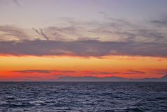Sunset in the Aegean Sea Stock Images