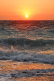 Sunset in the Aegean Sea Royalty Free Stock Photos