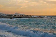 Sunset in the Aegean Sea Stock Photos