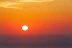 Sunset on Aegean sea. At Santorini Royalty Free Stock Photos