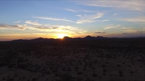 Sunset aerial stock footage