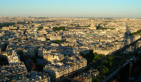 Sunset aerial view of Paris Stock Image
