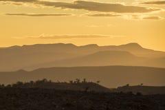 sunset afrykańskiej Fotografia Royalty Free