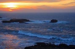 sunset afrykańskiej Zdjęcia Royalty Free