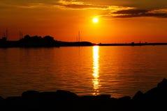 Sunset, Afterglow, Sky, Horizon stock image
