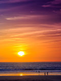 Sunset in Agadir, Morocco Royalty Free Stock Photography