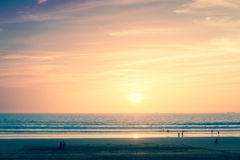 Sunset in Agadir, Morocco Royalty Free Stock Images
