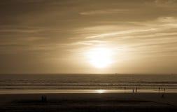 Sunset in Agadir, Morocco. Sepia sunset over Atlantic Ocean in Agadir, Morocco Stock Image
