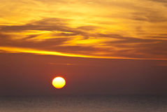 Sunset. In Ahrenshoop in Germany Royalty Free Stock Images