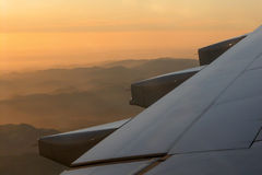 Sunset from the air!. Sunset from the air. Just before landing Royalty Free Stock Images