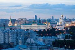 Sunset airial view of the Moscow Kremlin Stock Photo