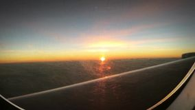 Sunset From Airplane stock video footage