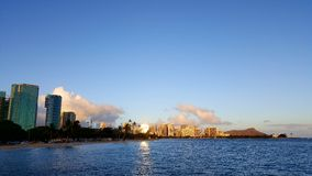 Sunset by ala moana. Walked around by ala moana and thought this would be a nice photo Stock Image